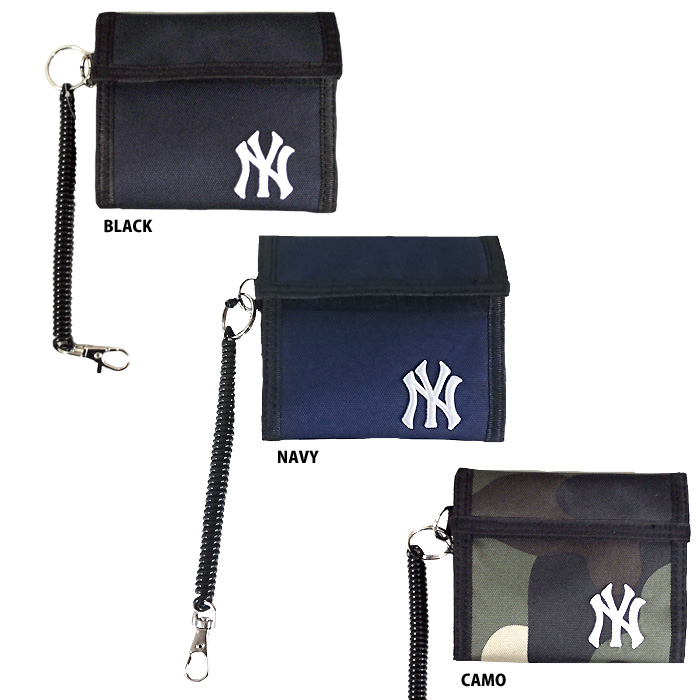 ddecbde60fb4 即日出荷 イーカム MLB 二つ折り財布 ニューヨークヤンキース コーデュラ素材 YK-WLT16