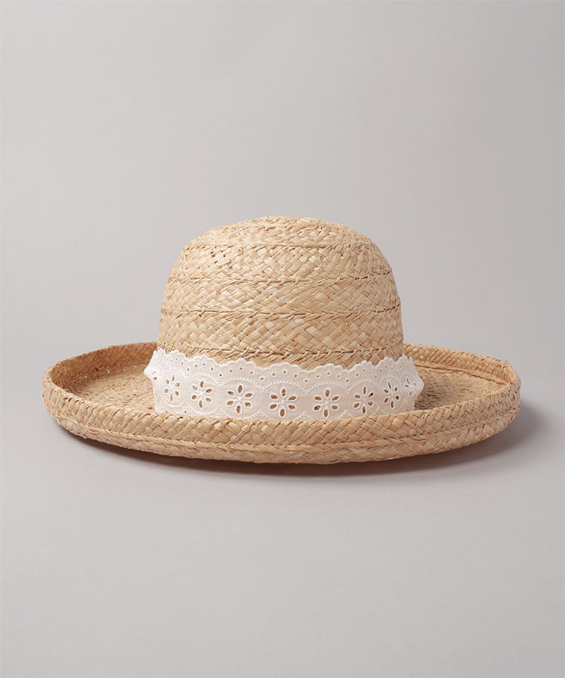 HOLIDAY x CA4LA LACE RAFFIA HAT