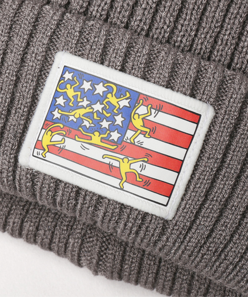 KEITH HEARING X CA4LA KNIT CAP