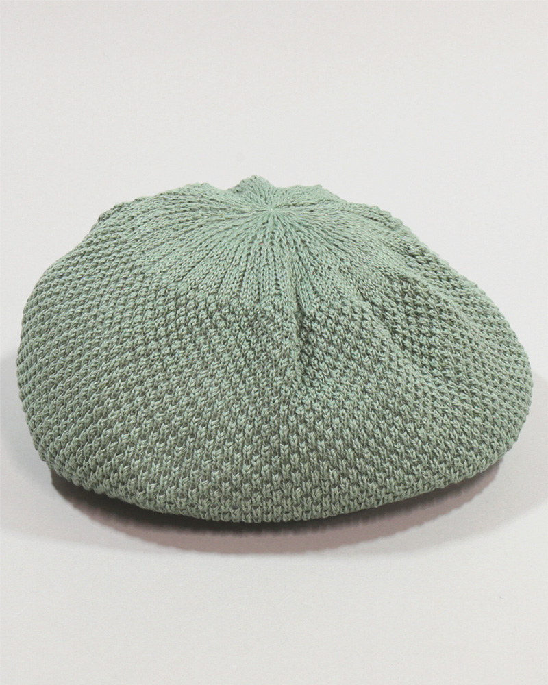 WASHED NUBBY KNIT BERET LN