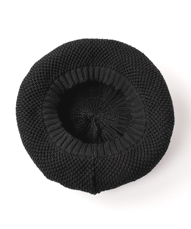 WASHED NUBBY KNIT BERET AC