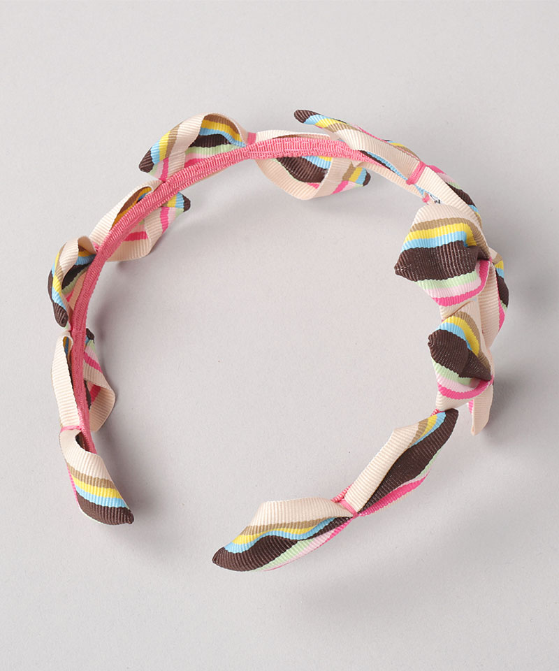 20 SABRINA GROSGRAIN STRIPE HEADPIECE