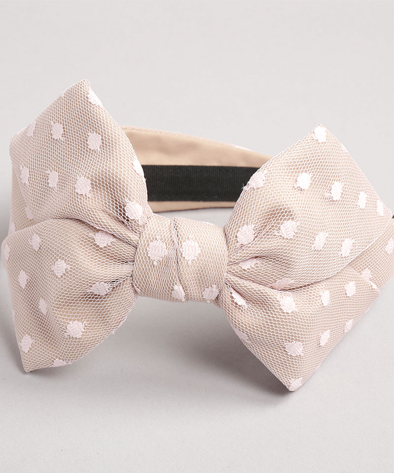 20 DOTTED TULLE CAROLINE BOW
