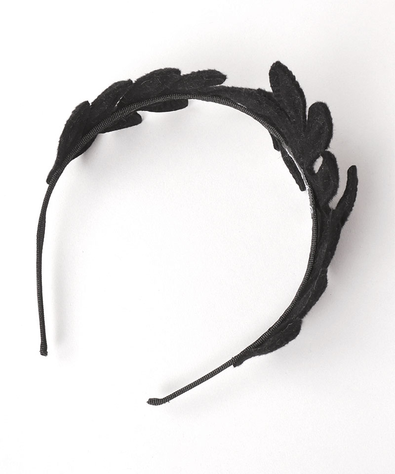 VINTAGE FELT LEAVES HEADPIECE