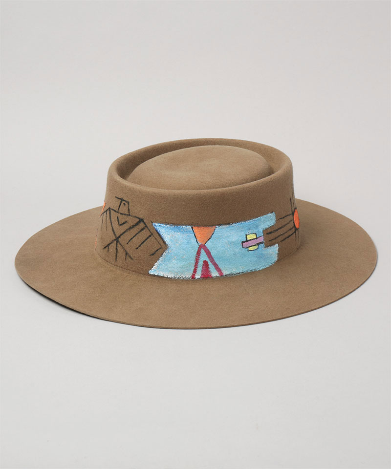 HAND PAINTED BOATER HAT