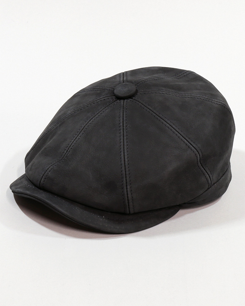 18 LEATHER NEWSBOY CAP