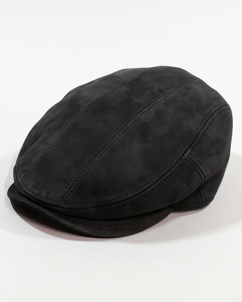 18 LEATHER FLAT CAP