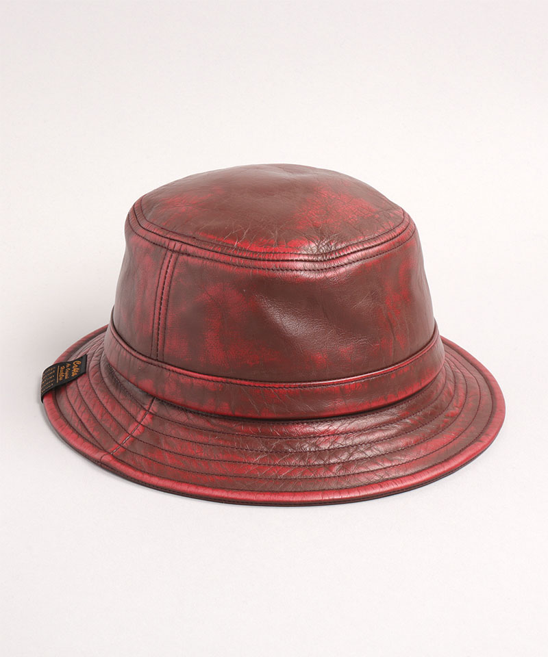 LEATHER PEELED HAT