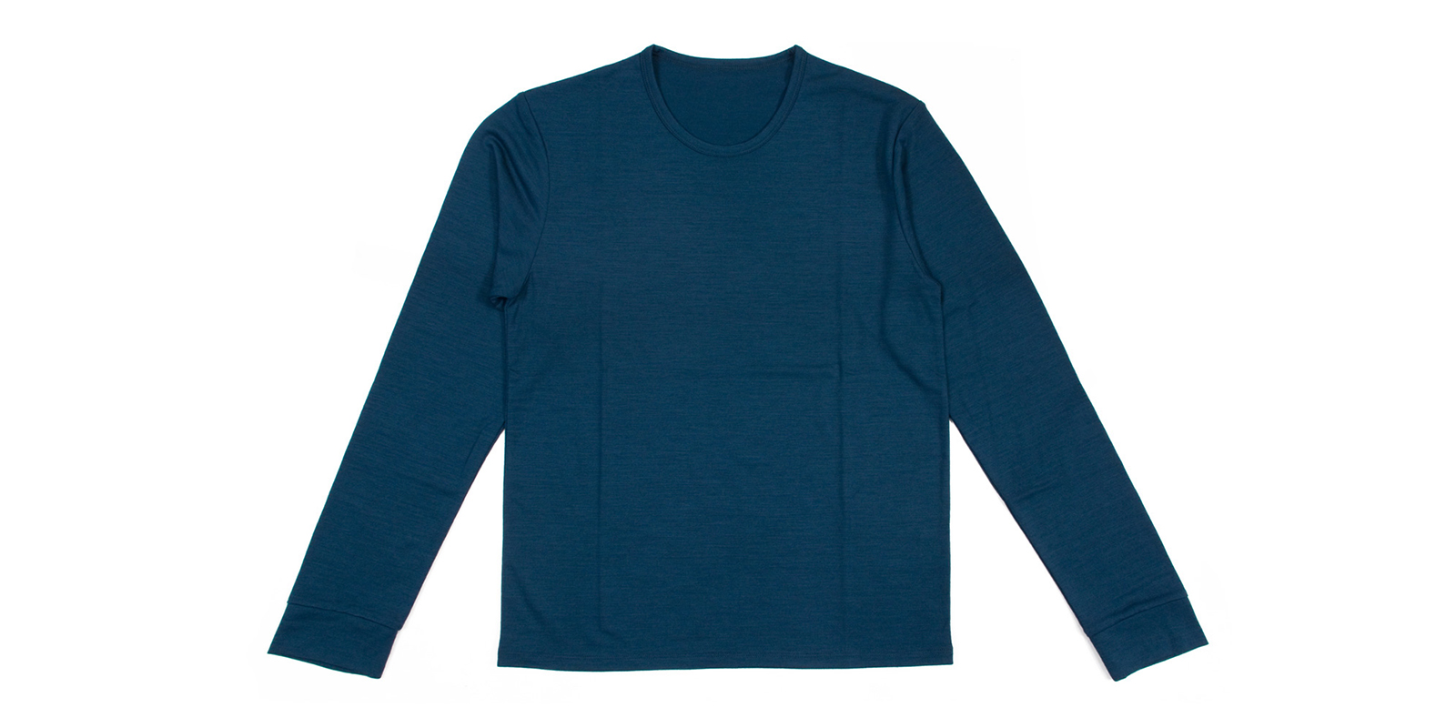 WOOL CREW NECK LONG T-shirt