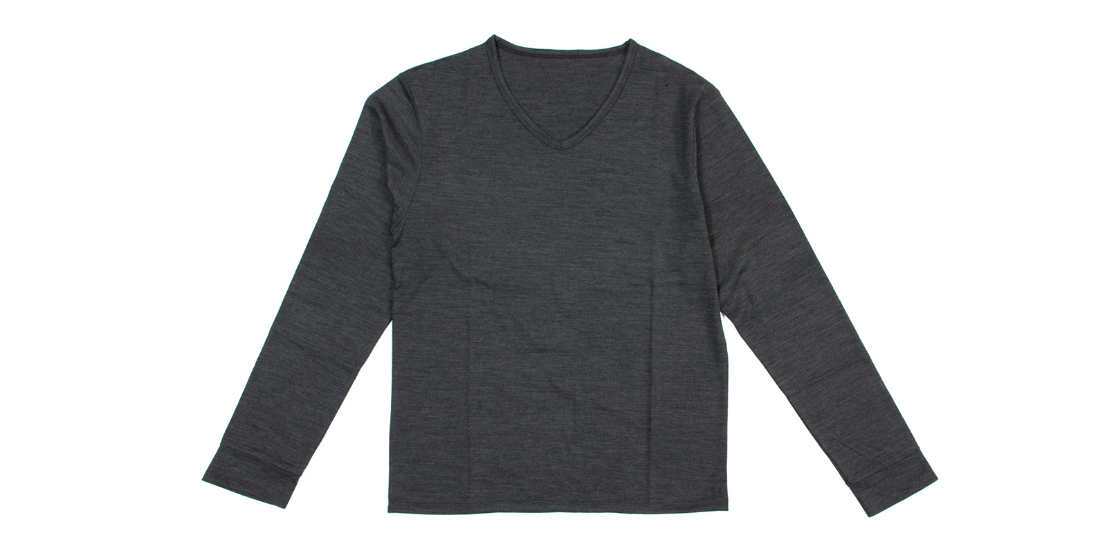 WOOL V NECK LONG T-shirt
