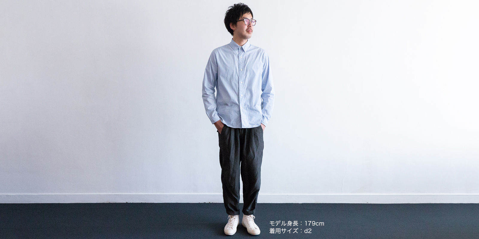 d 204 JOURNAL SHIRT・ストライプ・d1