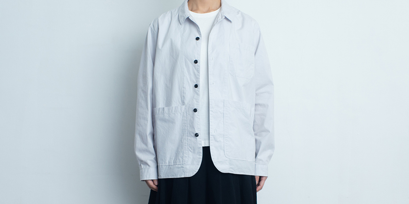 d 202BACK POCKET SHIRT・アイスブルー・M