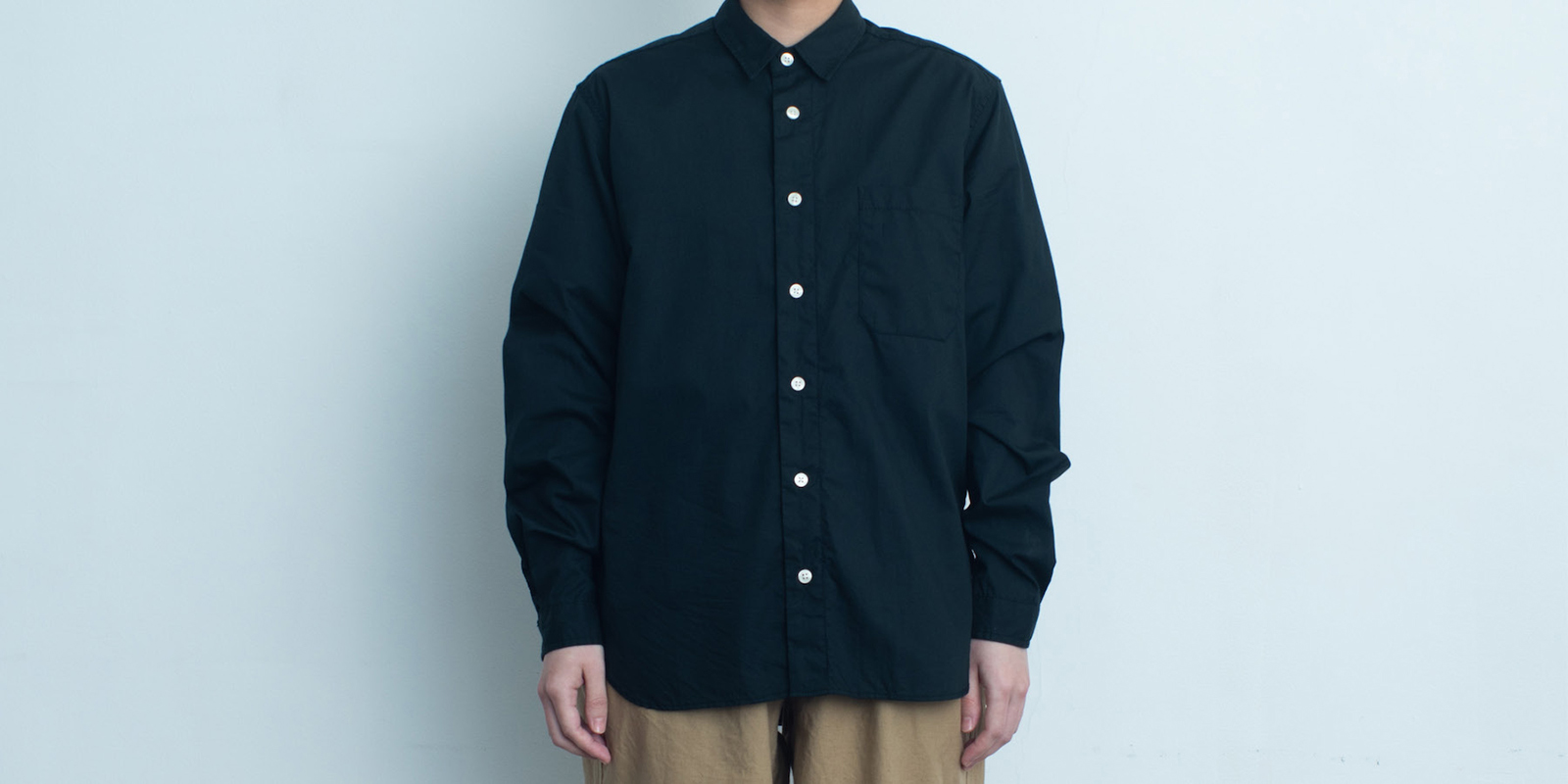 d 205 REGULAR SHIRT・BLACK・XXL