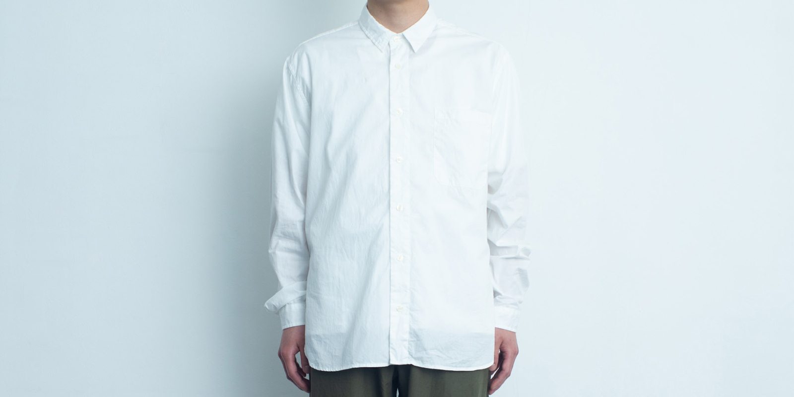 d 205 REGULAR SHIRT・WHITE・L