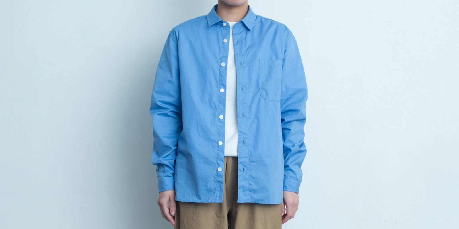 d 205 REGULAR SHIRT・BLUE・M