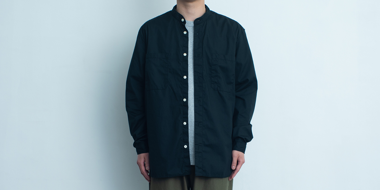 d 206 STAND SHIRT・BLACK・XL