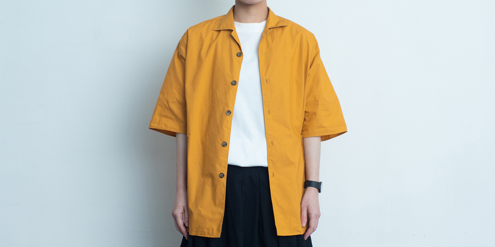 d 207 SIDE POCKET SHIRT・MUSTARD・M