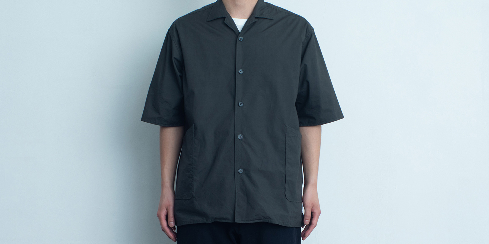 d 207 SIDE POCKET SHIRT・DARK GRAY・L