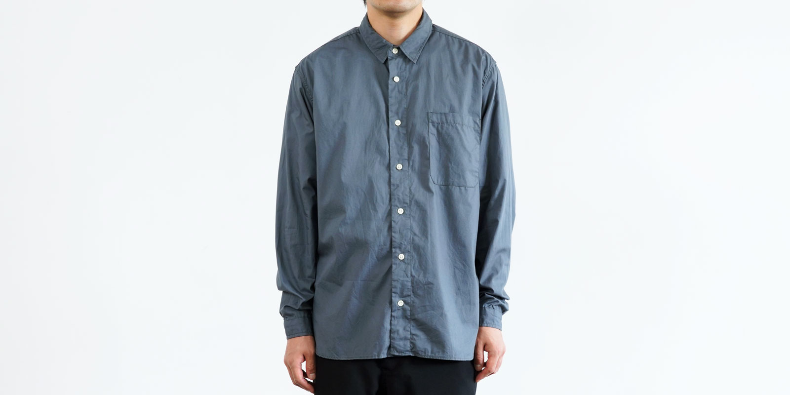 d 205 REGULAR SHIRT・GRAY・M