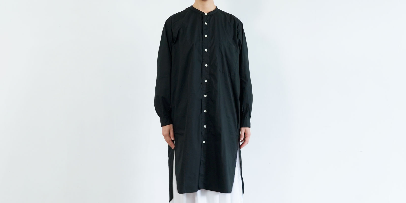 d 208 LONG SHIRT・BLACK・S