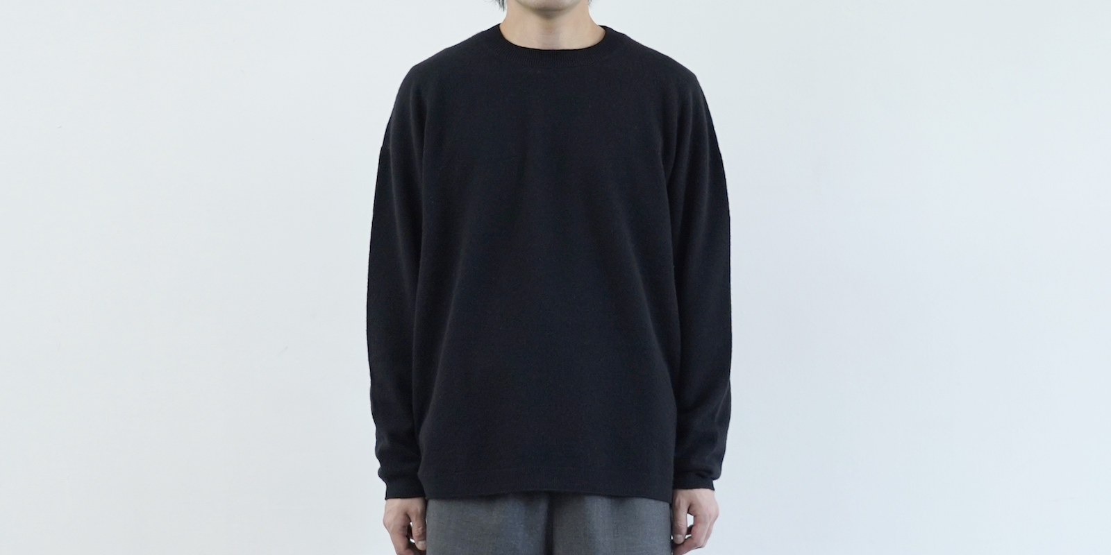 d 501 CREW NECK WOOL SWEATER ブラック・S