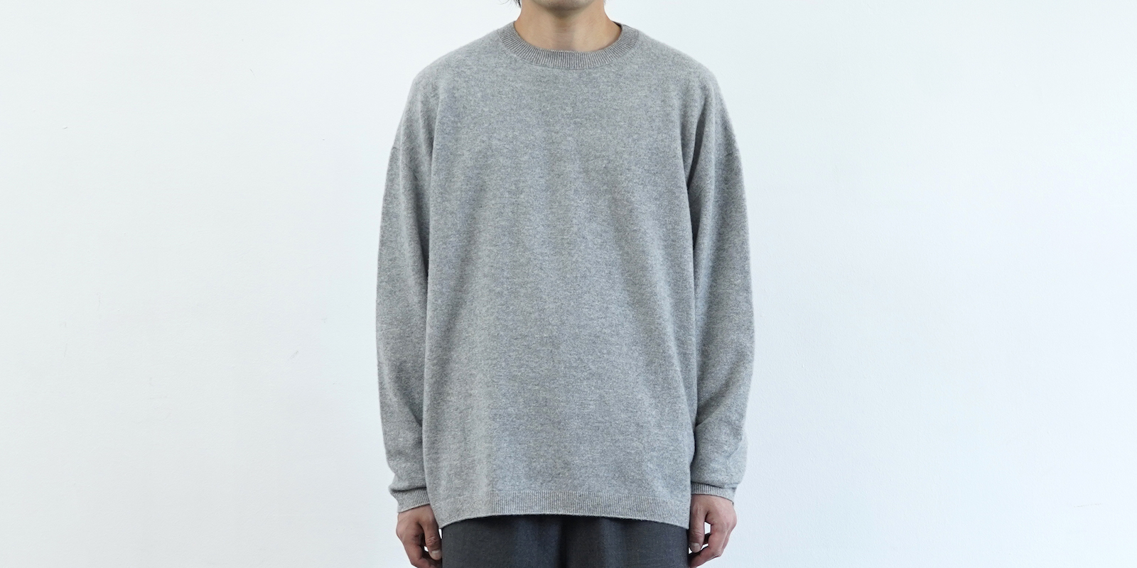 d 501 CREW NECK WOOL SWEATER グレー・L