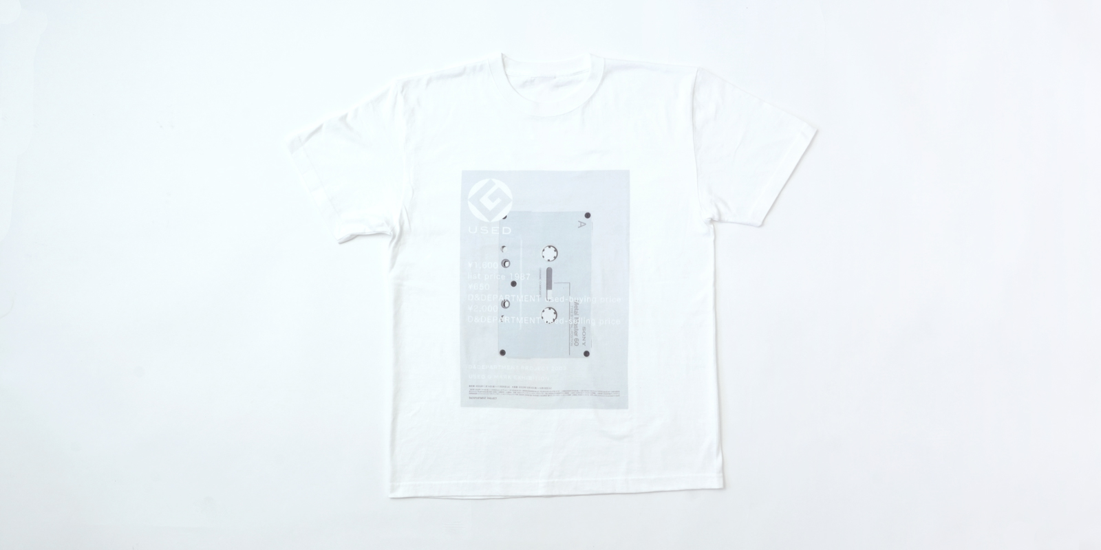 【数量限定】20周年記念・USED G MARK EXHIBITION T SHIRT(d 405)・L