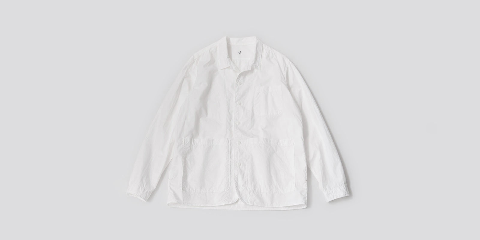 d 202 BACK POCKET SHIRT・ホワイト・M