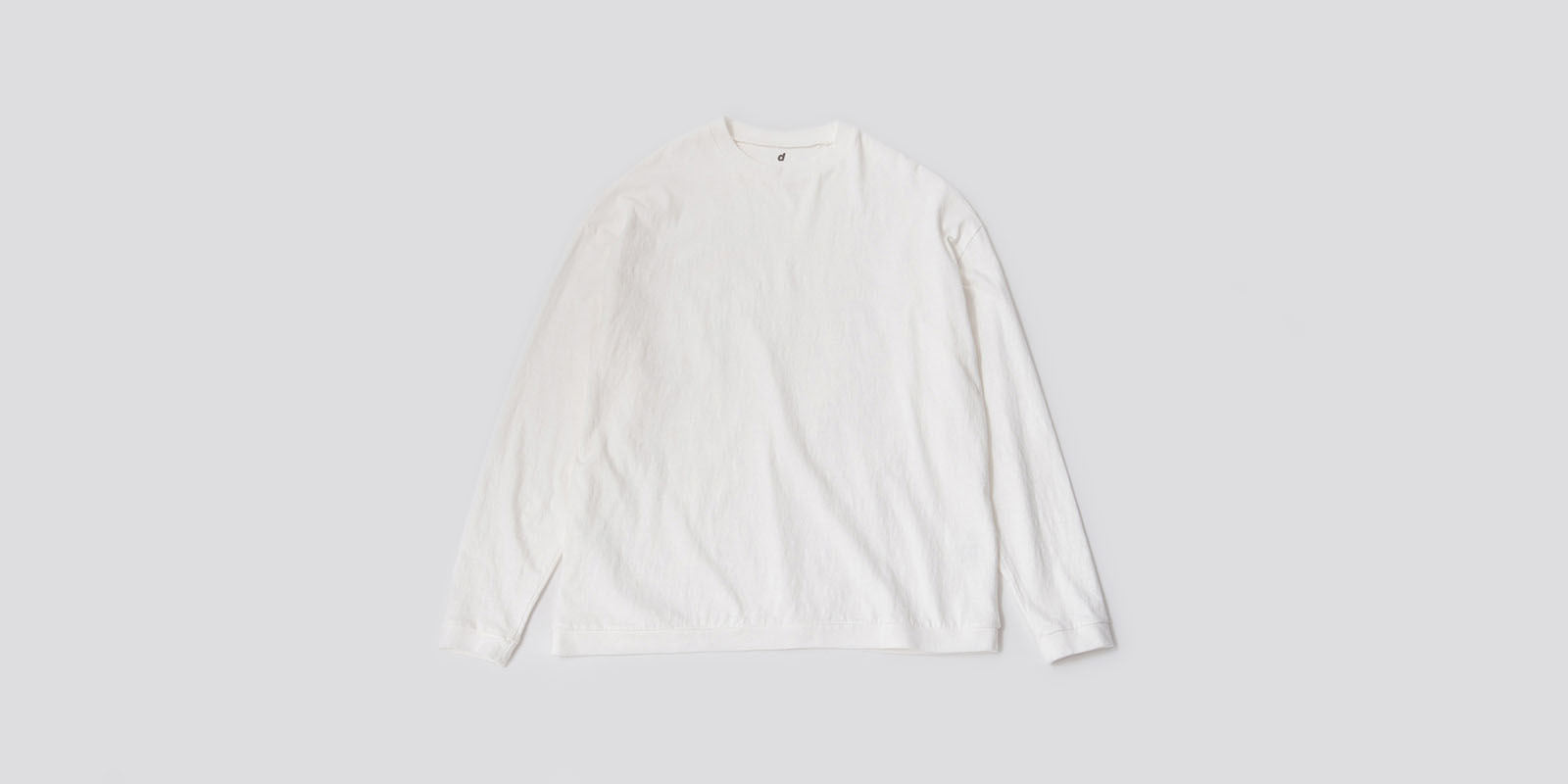 d 406 LONG SLEEVE  T SHIRT・ホワイト・L