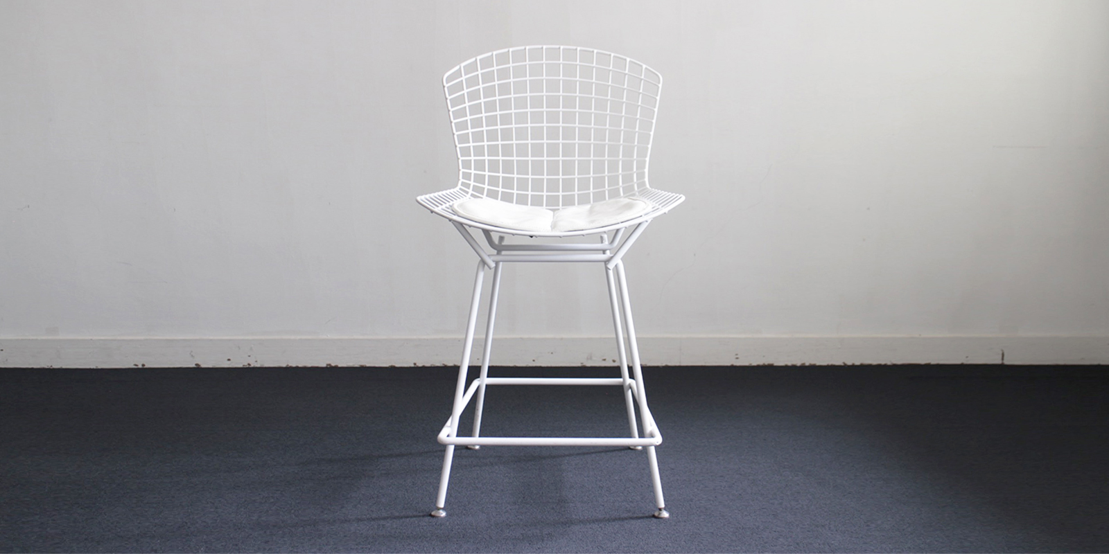 【sold out】Knoll ワイヤーチェア(ハイタイプ)・ホワイト(USED)