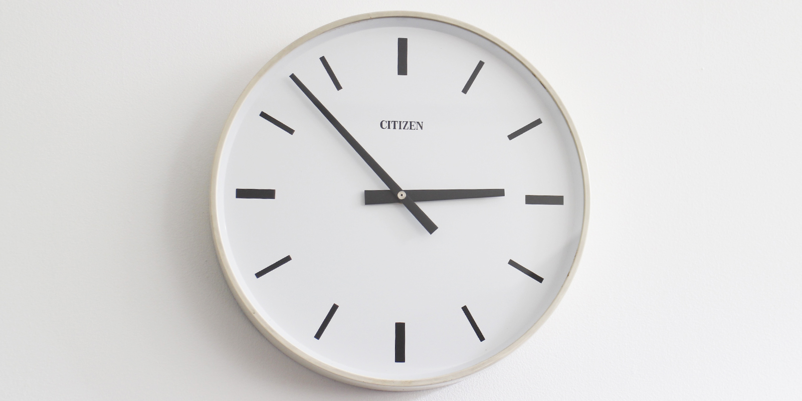 【sold out】CITIZEN ウォールクロック・アイボリー(USED)[宅配便]