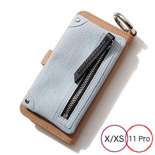 [エーシーン]B&C Flip pocket case for iPhone X/XS/11Pro