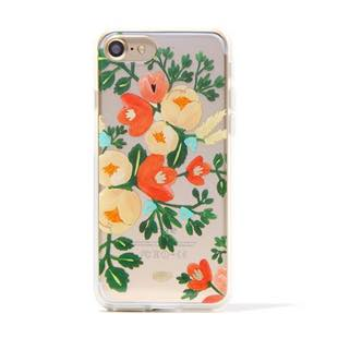 RIFLE PAPER CO. Clear Peach Blossom for iPhone 6Plus/7Plus/8Plus