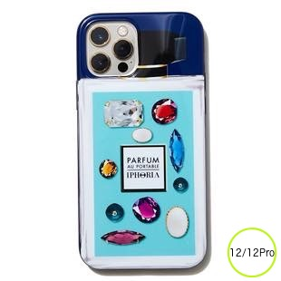 [アイフォリア]Perfume Mint Rhinestones for iPhone 12/12 Pro