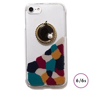 [ジーニーバイエル]Art×Bijou iPhone case(Black MIX) for iPhone 6s/6