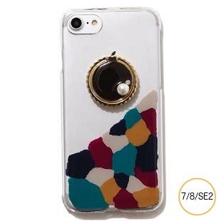 [ジーニーバイエル]Art×Bijou iPhone case(Black MIX) for iPhone 8/7/SE2