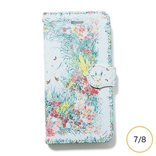 [マニプリケースコレクション]kiitos×manipuri case collection park grey diary for iPhone 8/7