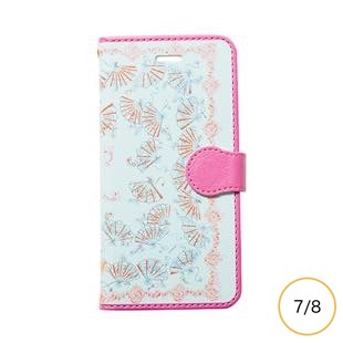 [マニプリケースコレクション]manipuri case collection fan blue diary for iPhone 8/7