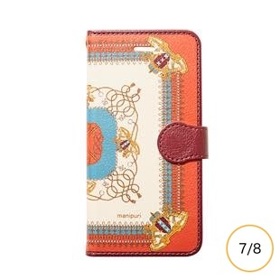 [マニプリケースコレクション]manipuri case collection embremrope brown diary for iPhone 8/7