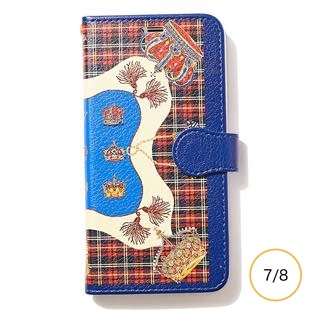 [マニプリケースコレクション]manipuri case collection CROWN-RED diary for iPhone 8/7