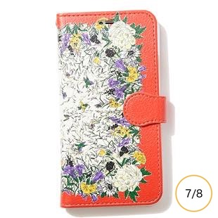 [マニプリケースコレクション]manipuri case collection PARADAISE- ORANGE diary for iPhone 8/7