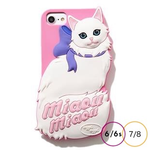 [ウィグルウィグル]Pink Cat SILICONE for iPhone8/7/6s/6
