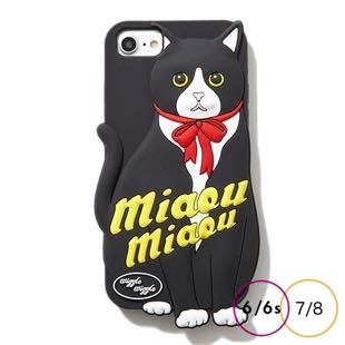 [ウィグルウィグル]Black Cat SILICONE for iPhone8/7/6s/6