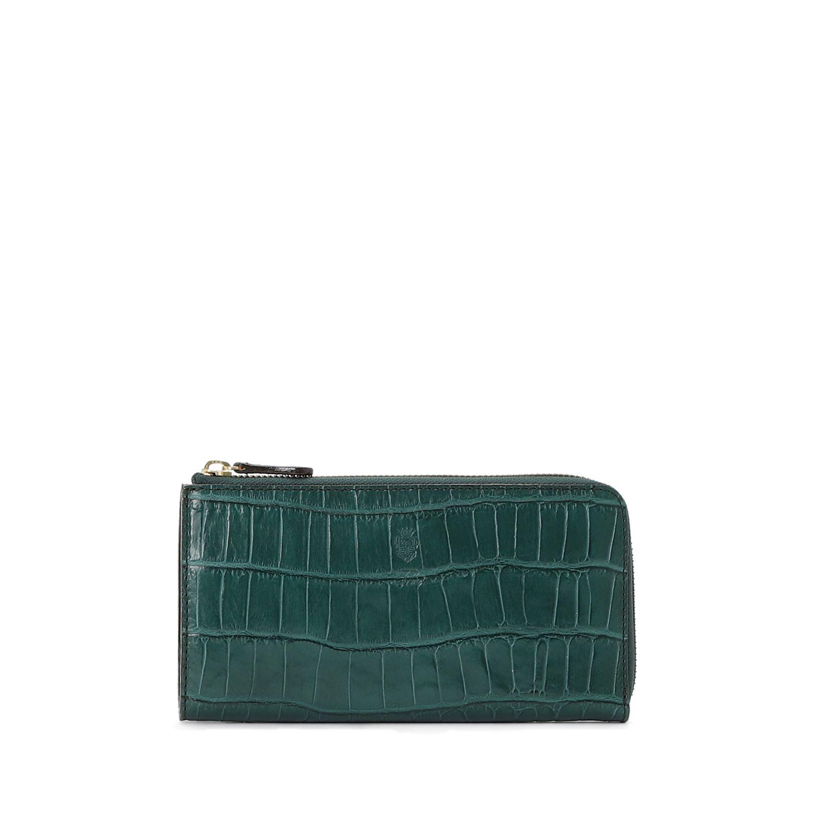 ップする緑の財布のおすすめFelisiのL字ファスナー長財布