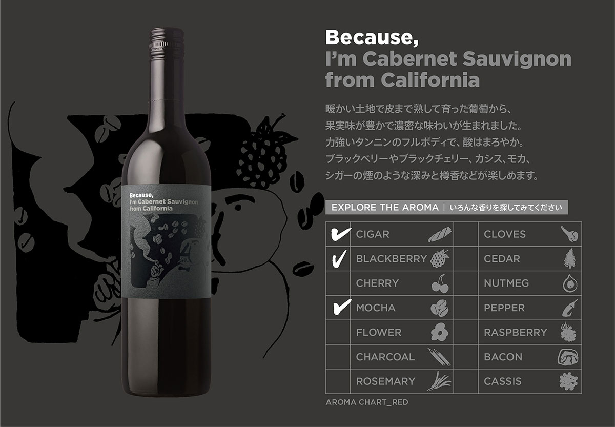 Because, I'm Cabernet Sauvignon from California