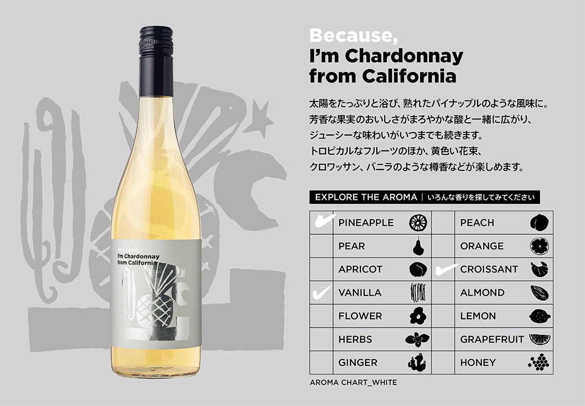 Because, I'm Chardonnay from California