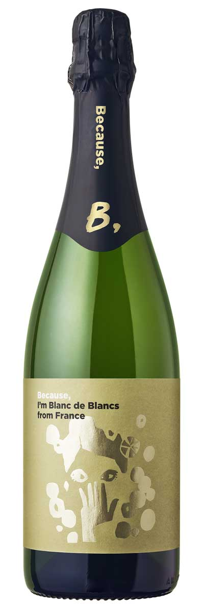 Because, I'm Blanc de Blancs from France(フランス産スパークリング750ml)