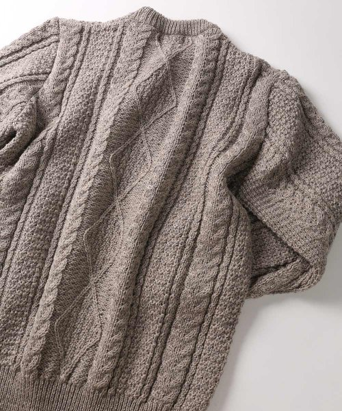 Kerry Woollen Mills Aran Wool Sweater: Sunflower