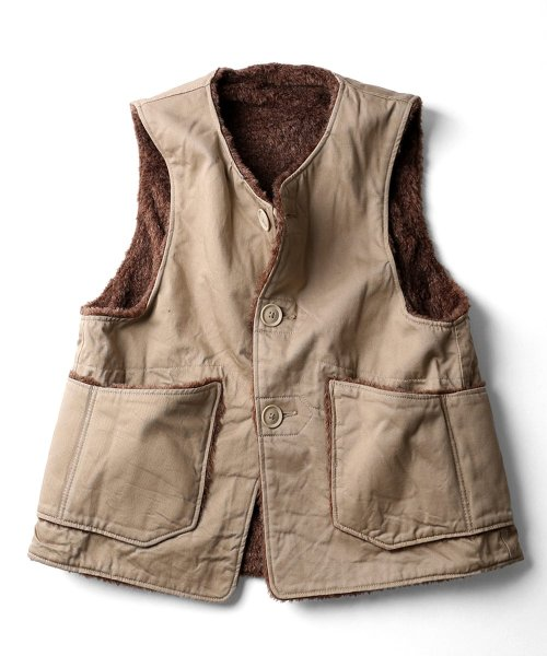 Engineered Garments Over Vest - Chino Twill DE208: Khaki