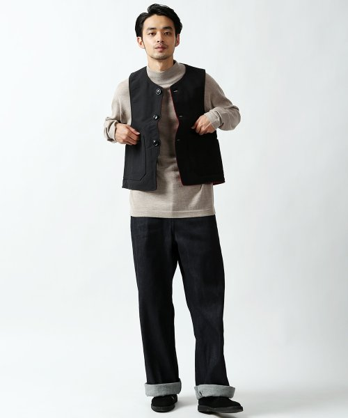 Engineered Garments Over Vest - Plaid / Cotton Double Cloth DE214: Red